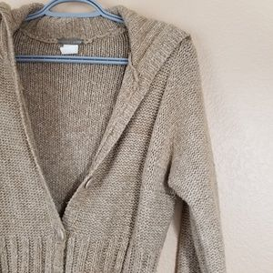 J. Crew Sweaters - J. Crew Camel Brown Knitted Cardigan, size small